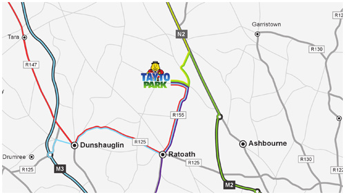 tayto park ashbourne co meath directions -map